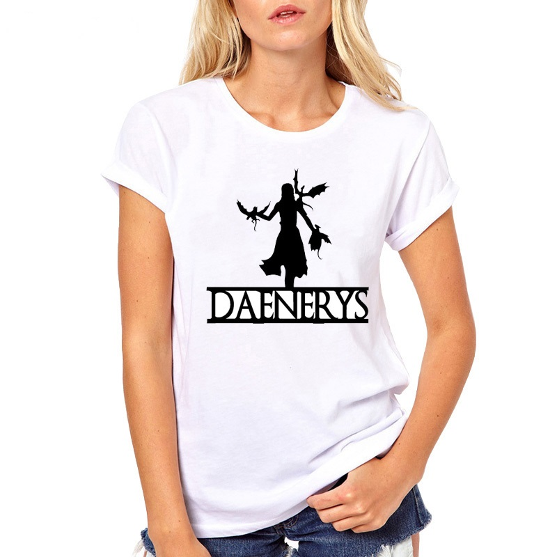 Harajuku T shirt Women Game of Thrones Ringer tee shirt femme mother of dragons tshirt camiseta mujer O neck summer 2019 Tops in T Shirts from Women 39 s Clothing