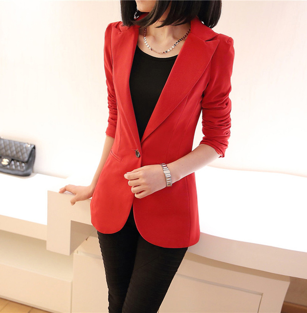 2018 autumn winter new stylish blazers for women cotton jackets lined with striped formal suit outerwear single button Jacket