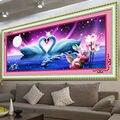 5D DIY diamante bordado pintura punto de cruz Animal cristal redondo diamante hermoso lago Cisne dormitorio decorativo costura