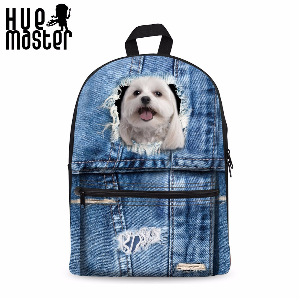 Mochila Rodinha Backpacks For Adolescent Girls Printing Backpack For Children Cat Dog School Bags Travel Casual Rucksack Women women turtleneck front pocket sweater dress