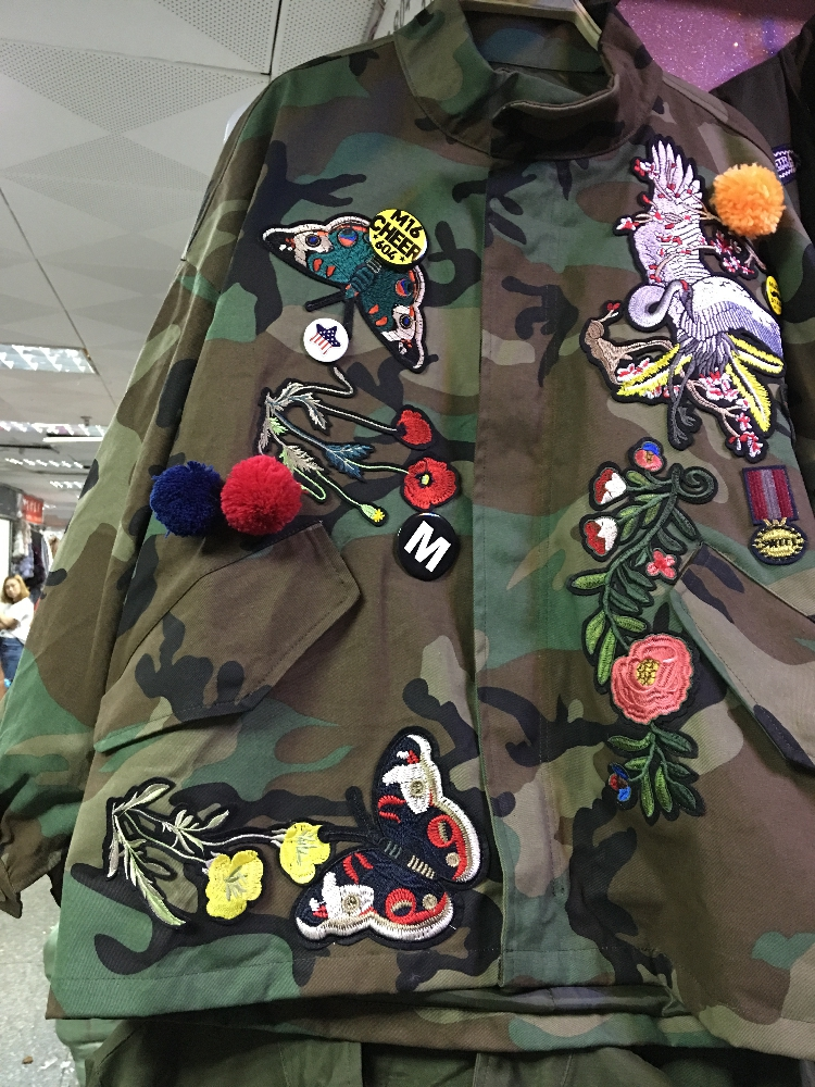 7d1b2302440f6 Women coat Female Army Green Letter Print flower embroidery Camouflage coats  Chaquetas Mujer Fall trench on Aliexpress.com | Alibaba Group