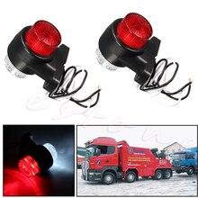 2 шт. 10-В 30 в 8 светодио дный красный и белый боковой фонарь лампа для трейлера Грузовик Караван