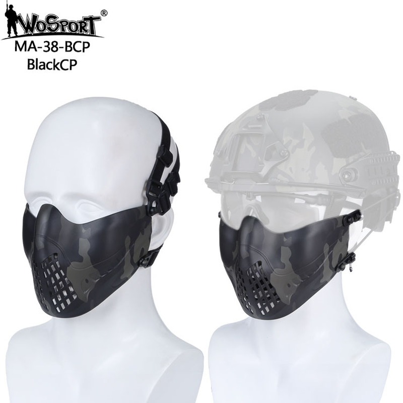 Tactical Paintball Mask Airsoft Protective Face Masks for Tactical Helmet Hunting Shooting Military Game Breathable Freely