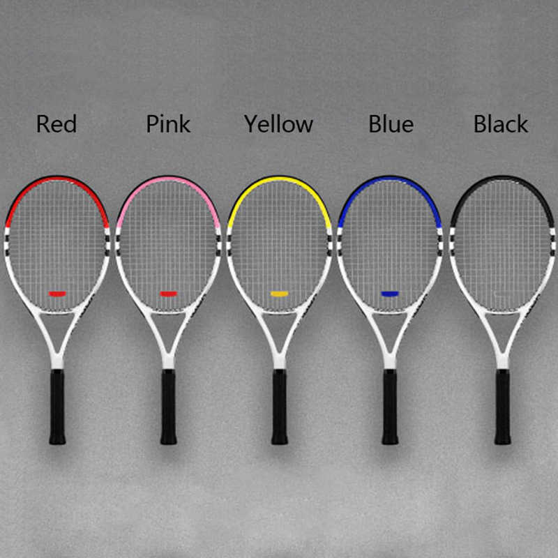 Professional Carbon Training Tennis Racket With String Bag Technical Type Rackets Top Material Sports 5 Colors Competition