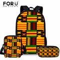 FORUDESIGN детские 3 шт./компл. школьные сумки для детей африканская традиционная печать сумка на плечо для подростков сумка для начальной школы