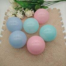 Купить с кэшбэком 100pcs/lot 8cm Plastic Stress ball Pits Candy Color Beads in swimming Pool Ocean Wave Ball Baby Toys Stress Air Ball Green Blue
