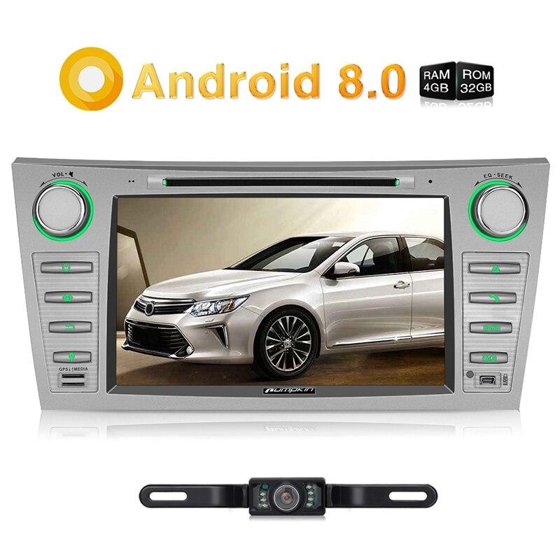 Тыквы 2 Din 8 Android 8,0 dvd-плеер автомобиля gps навигации стерео Bluetooth FM Rds радио для Toyota camry/Aurion 2007-2011