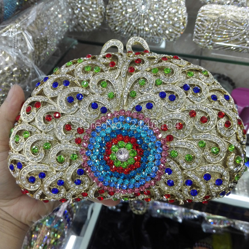 Women Flower Crystal Bags Ladies Evening Bag High Quality Female Colorful Clutch Purses Lady Wedding Handbag 88622 luxury crystal clutch handbag women evening bag wedding party purses banquet