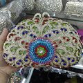 Women Flower Crystal Bags Ladies Evening Bag High Quality Female Colorful Clutch Purses Lady Wedding Handbag 88622