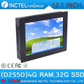 12 inch Intel Atom D2550 All in One Touch Screen Panel PC with 4G RAM 32G SSD