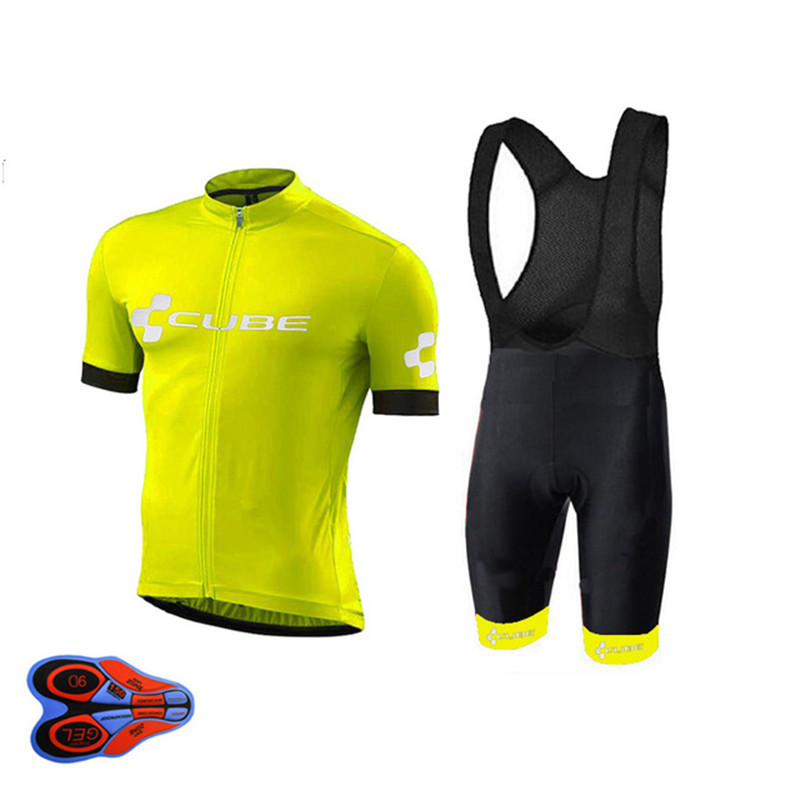 2018 CUBE Pro Team Mens Cycling Jersey Set Summer Bicycle Clothing Maillot Ropa Ciclismo Hombre MTB Bike Clothes Bicycle bicicle tinkoff saxo bank cycling jersey ropa clismo hombre abbigliamento ciclismo men s cycling clothing mtb bike maillot ciclismo d001
