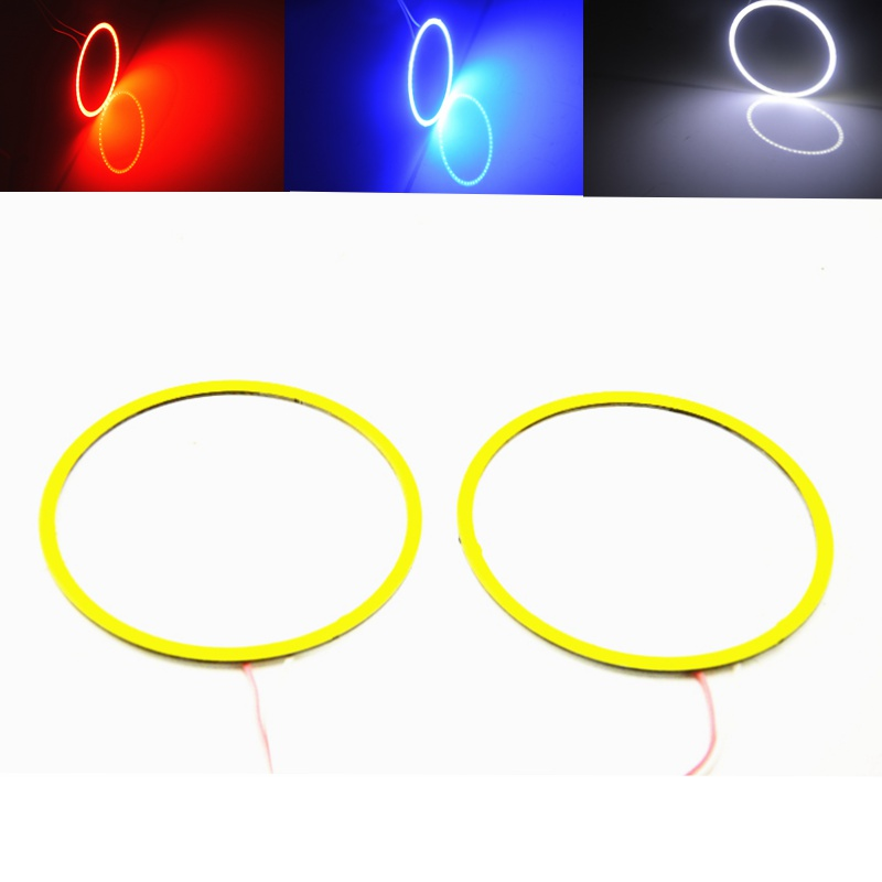 2pcs Angel Eyes COB Auto Halo Rings Headlight DRL 60/70/80/100/120mm 12V Led Car Angel Eyes Motorcycle with Lampshades Bright 1pair white 80mm cob car led angel eyes drl daytime running headlight halo ring driving lamp auto blub with cover 63 chips 12v