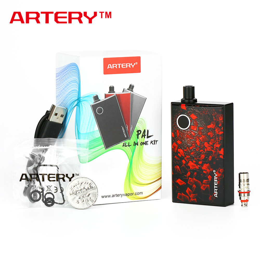 Arteria PAL AIO Starter Kit 1200 mAh Batteria Integrata con 3 ml Serbatoio Design Portatile e far scorrere ricarica Sigaretta Elettronica Kit