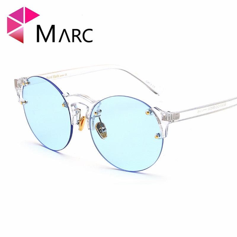 MARC UV400 WOMEN MEN sunglasses oculos Fashion gafas eyewear sol Gradient clear Pilot Plastic