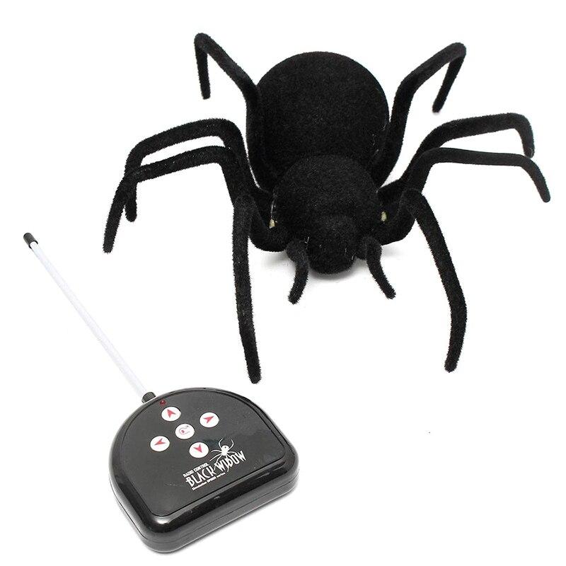 RC À Distance Contrôlée Araignée Araignée De Contrôle À Distance Jouet Cadeau Halloween Araignée Géante Latrodectus Noir Veuve 30*30*8.5 cm
