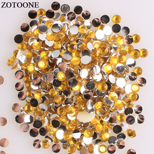 ZOTOONE Flatback Resin Non Hotfix Rhinestones DIY Mobile Phone Nail Art Glue On Stones And Crystals Strass Applique