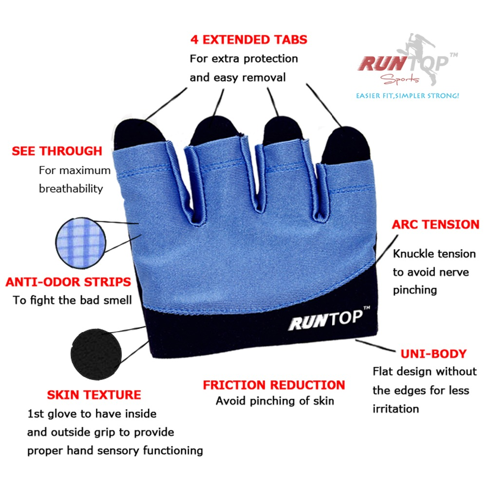 Neoprene Weight Lift Training Workout Gym Palm Exercise: RUNTOP Women Workout Gloves Crossfit WODS Fitness GYM Yoga