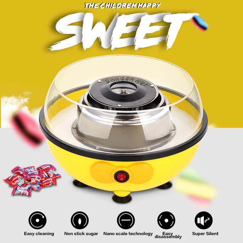 Mini Home Sweet Sugar Cotton Candy Maker Machine Electric DIY Sweet Candy Floss Spun Sugar Maker Machine For Children Kids Gift