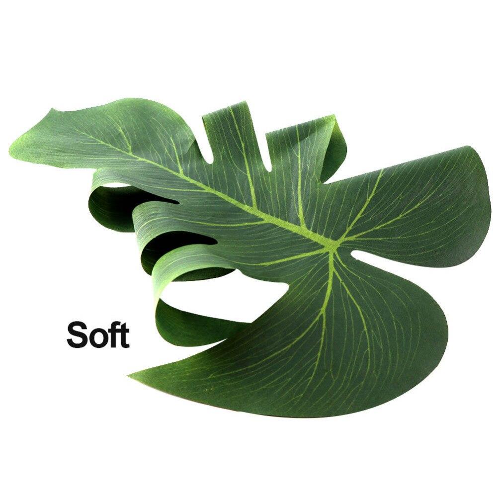 12pcs 35x29cm artificial tropical palm leaves for hawaii for Artificial leaves for decoration