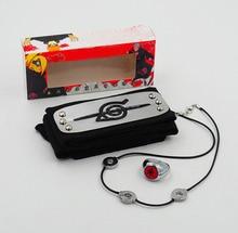 Anime Naruto headband Uchiha Itachi leaf village cosplay 3pcs/set