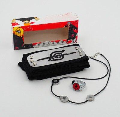 Anime Naruto 3pcs/set Tsunade Uchiha Itachi Leaf Village Cosplay Prop Headband