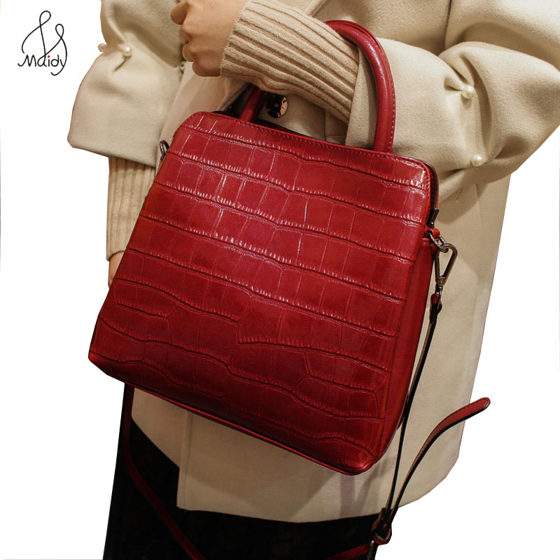 First Layer Of Cowhide Leather Crocodile Pattern Women Bags Designer Ladies Totes Bag Handbags Shoulder Crossbody Tote Maidy все цены