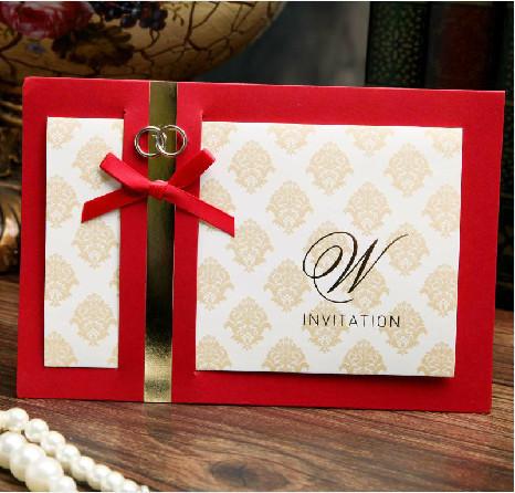 comercio al por mayor unidslote oro tarjeta de invitacin de la boda
