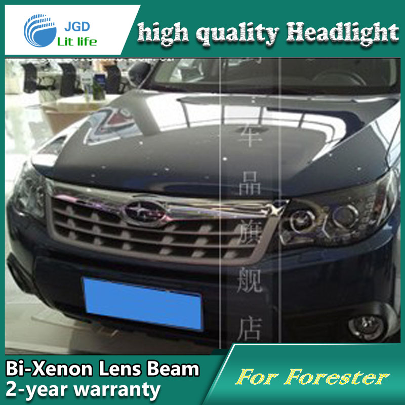 Car Styling Head Lamp case for Subaru Forester 2008 2009 Headlights LED Headlight DRL Lens Double Beam Bi-Xenon HID akd car styling for nissan teana led headlights 2008 2012 altima led headlight led drl bi xenon lens high low beam parking