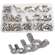 Butterfly Nut Metric Threaded Wing Nuts 304 Stainless Steel Set Assortment Kit M3 M4 M5 M6 M8 M10 M12