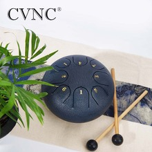 CVNC 6  steel tongue drum with C D E F G A B C 8 notes with free bag and rubber mallets c e weyse theme and variations
