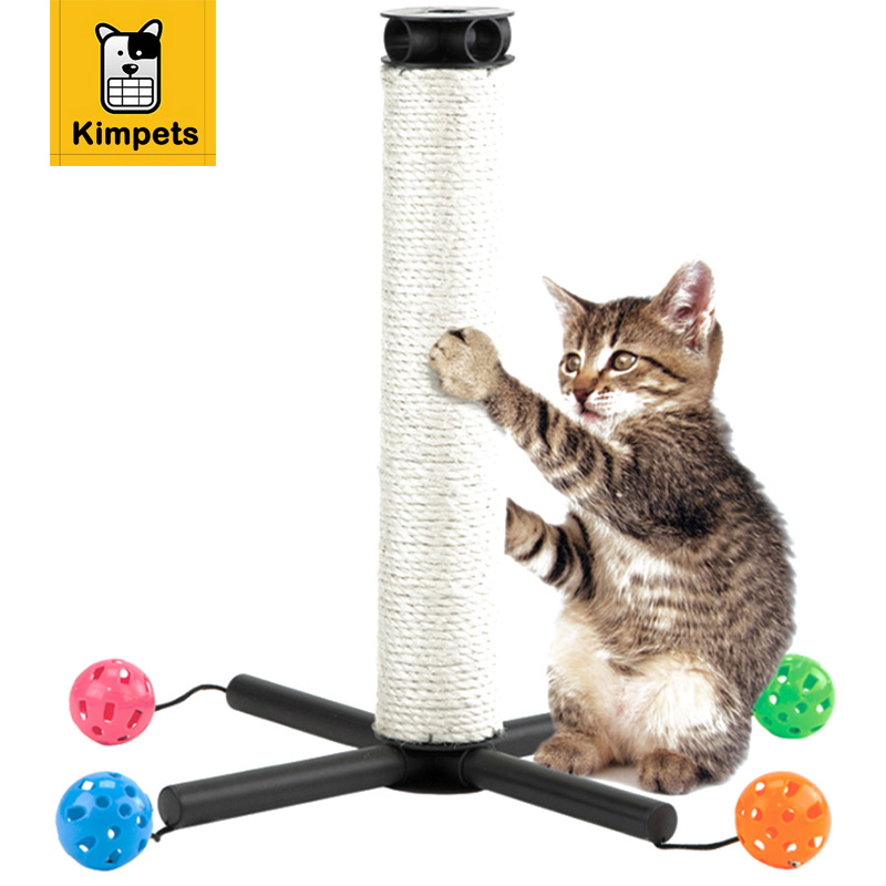 DOBOLA New Cat Toy Cat Furniture&Scratchers Cat House Swinging The Bell Ball Cat Tree Scratch Toy for Pet Kitten Jumping