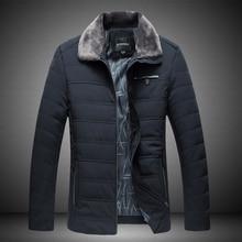 2017 Winter Men's Cotton Down Jacket , Fashionable Big Size Men Business Parkas , Winter  Anti-wind & Warm Jackets XL-7XL