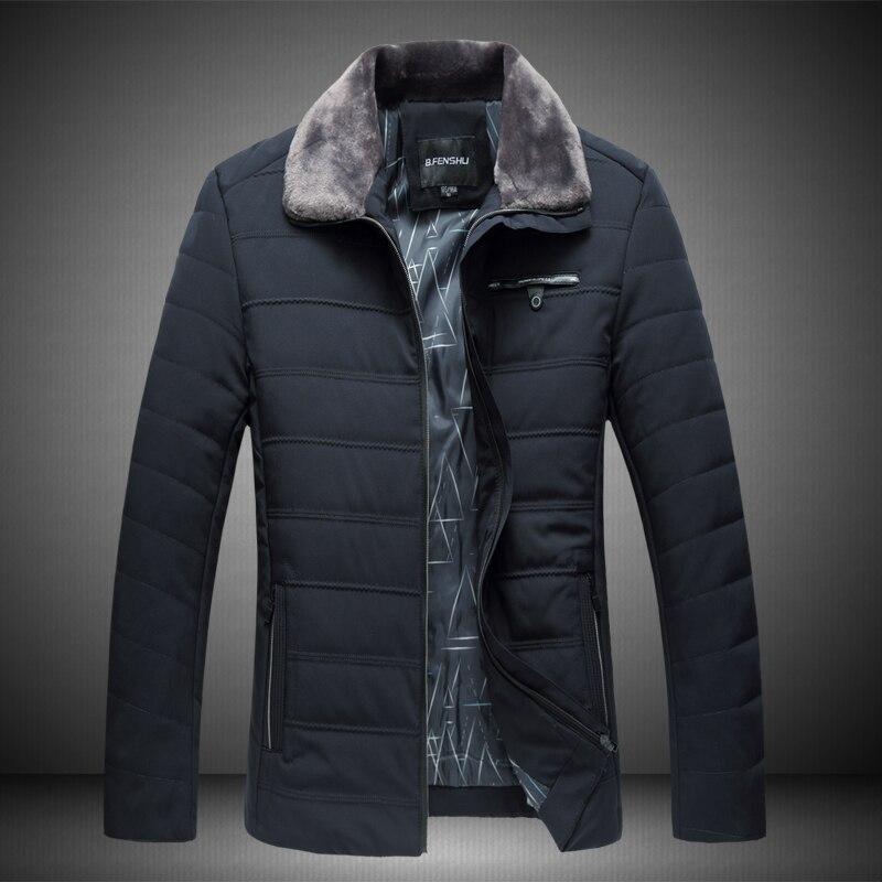 2017 Winter Mens Cotton Down Jacket , Fashionable Big Size Men Business Parkas , Winter Anti-wind & Warm Jackets XL-7XL