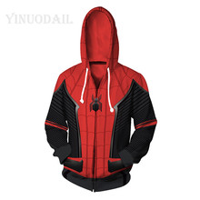 100cm-150cm Unisex Pullover Sweatshirt Spiderman Hoodies Children 3D Printed Streetwear Hip Hop Warm Hooded for Kids