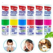 1pc Tailandia Nasal inhalador Poy sian Mark 2 hierbas Nasal inhalador Poy Sian palo de aceite del cilindro de Brancing Breezy asma