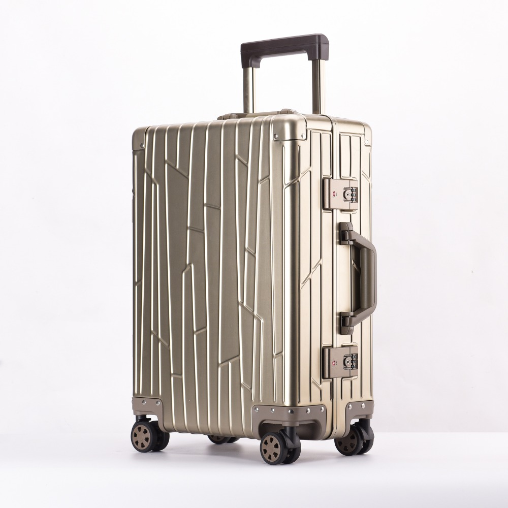 20 24 Inch Rolling Luggage Waterproof 100% Aluminium Trolley Solid Travel Bag 20 Women Boarding Bag Carry On Suitcases Trunk20 24 Inch Rolling Luggage Waterproof 100% Aluminium Trolley Solid Travel Bag 20 Women Boarding Bag Carry On Suitcases Trunk