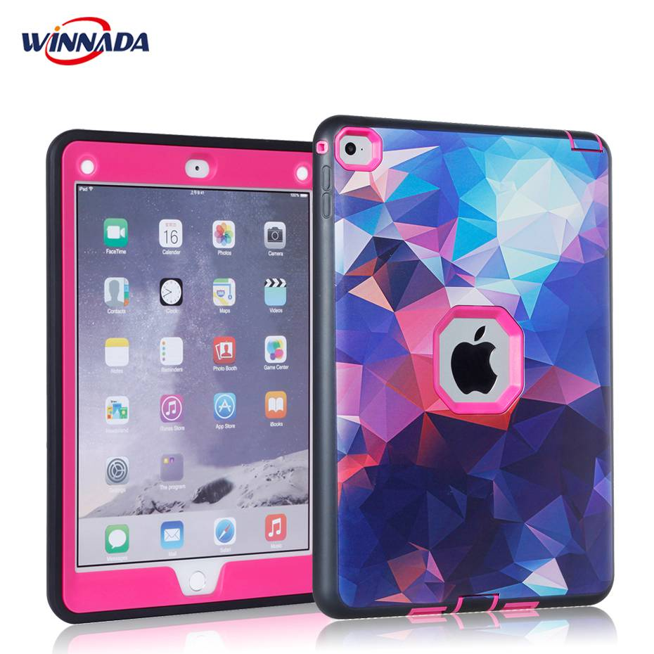 For ipad air 2 case Non-toxic for kids Silicon and PC Heavy Duty Shock Proof full body tablet cover for A1566 A1567 case silicone shock proof fall proof dust proof case w stand for ipad air 2 9 7 camouflage black