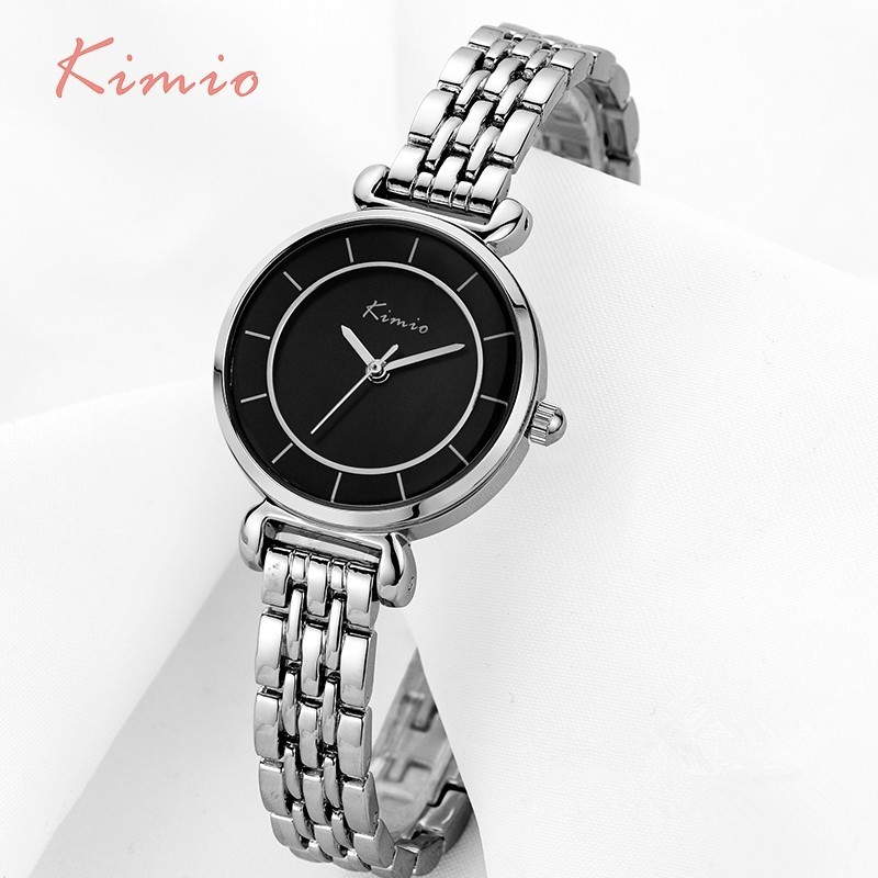 KIMIO Simple Women's Watch Bracelet Alloy Ladies Watches Top Brand Luxury Quartz Wristwatch Women-watches Clock bayan kol saati simple style mesh steel women watches top brand luxury rose gold black ladies quartz hours woman dress watch bayan kol saati