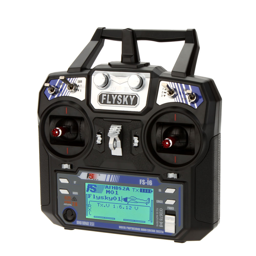 F14914/5 Flysky FS-i6 6CH 2.4G AFHDS 2A LCD Transmitter IA6 Receiver Mode 2/1 Radio System For RC Heli Glider Quadcopter