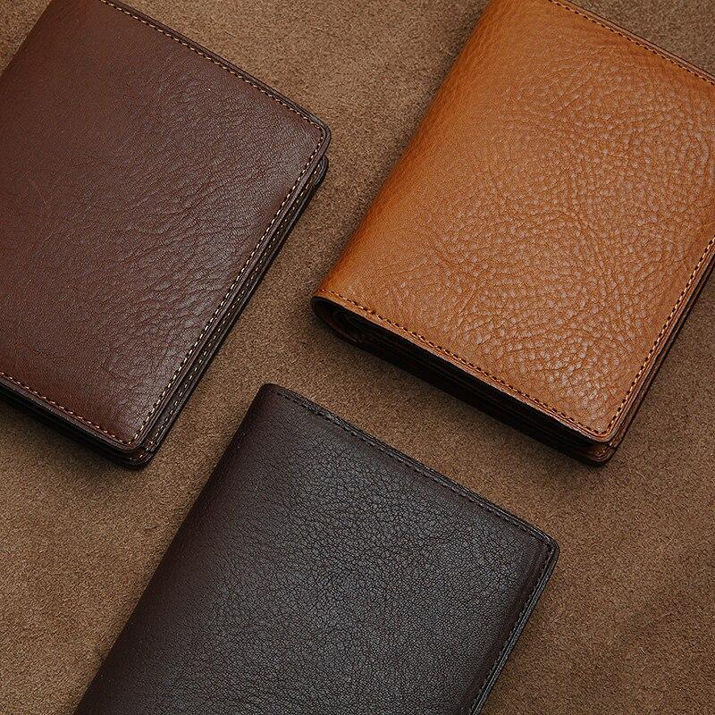 Bagaj ve Çantalar'ten Cüzdanlar'de LANSPACE hakiki deri Japonya erkek cüzdan İtalya deri çanta kısa bozuk para çantaları tutucular'da  Grup 2