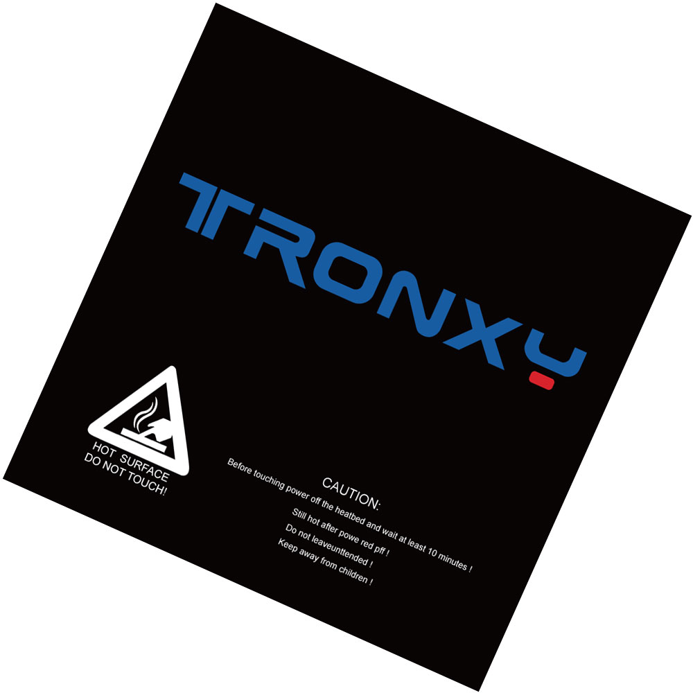 Free shipping tronxy black masking tape 3d printer heatbed sticker hotbed tape 210*200mm 330*330mm