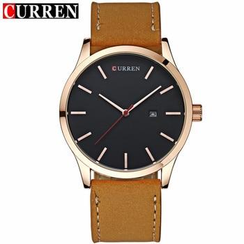 Curren Luxury Calendar Date Leather Waterproof Analog Men Quartz Watches 1