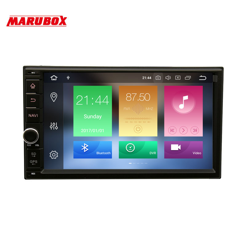 MARUBOX 706PX5 Universel 2 Din Voiture Multimédia lecteur Octa base Android 8.0, 4 gb RAM, 32 gb, GPS Navigation, Radio, Bluetooth, PAS de DVD