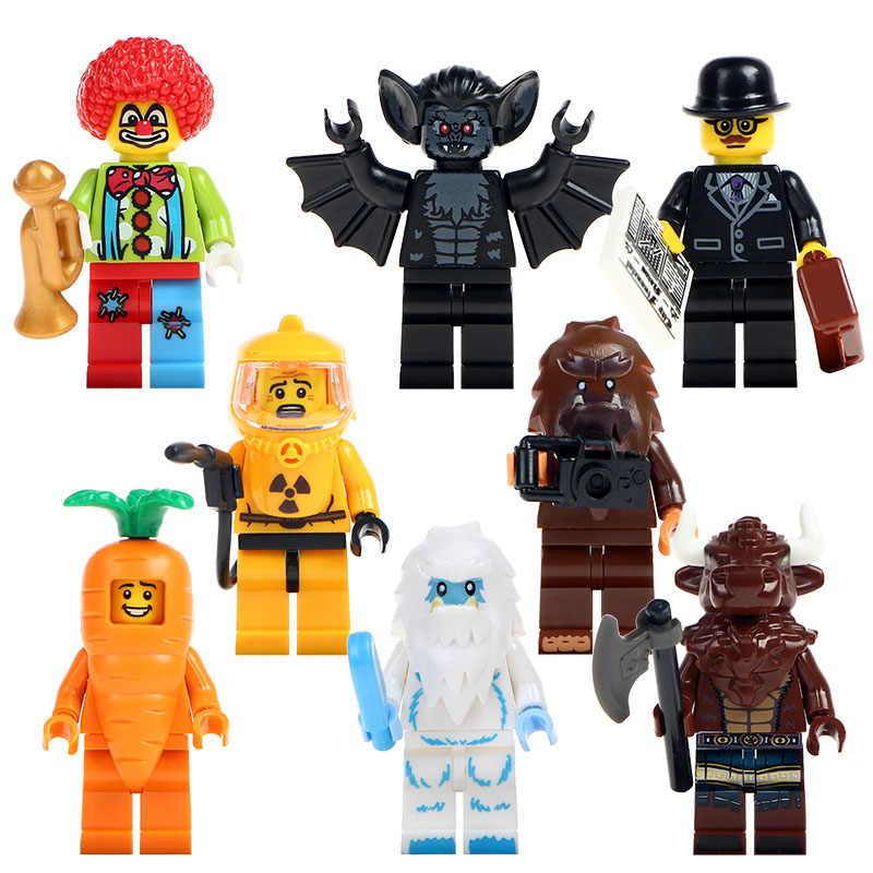 Single Sale PG8087 Super Heroes Tauren Vampire Batman Joker Businessman Minotaur Nuclear Workers Building Blocks Kids Gift Toys