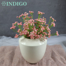цена на Real Touch Pink Babysbreath - (5pcs/lot) Real Touch Gypsophila Decorative Artificial Flower Wedding Party Event Free Shipping