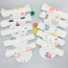 Baby Sweat Towel Pure Cotton High Density Childrens Gauze Four Layers Pad Backscarf can be customized