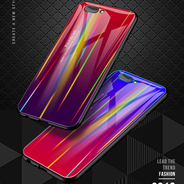 sale retailer 5190d db731 US $5.98 5% OFF|Laser Shine Tempered Glass Case for Huawei Honor 10 V10  Honor Play Case Gradient Color Glass Cover for Huawei Honor10 Funda Case-in  ...