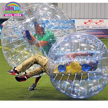 Puzzle inflatable zorb ball,inflatable unicorn knocker bumper Bubbles Soccer Zorb Ball Inflatable Bumper football