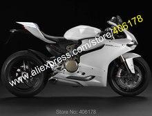 Hot vente, Pour Ducati Panigale 1199 1199 S 899 2012 – 2014 1199 / 1199 S / 899 tout blanc carrosserie moto carénages ( moulage par Injection )