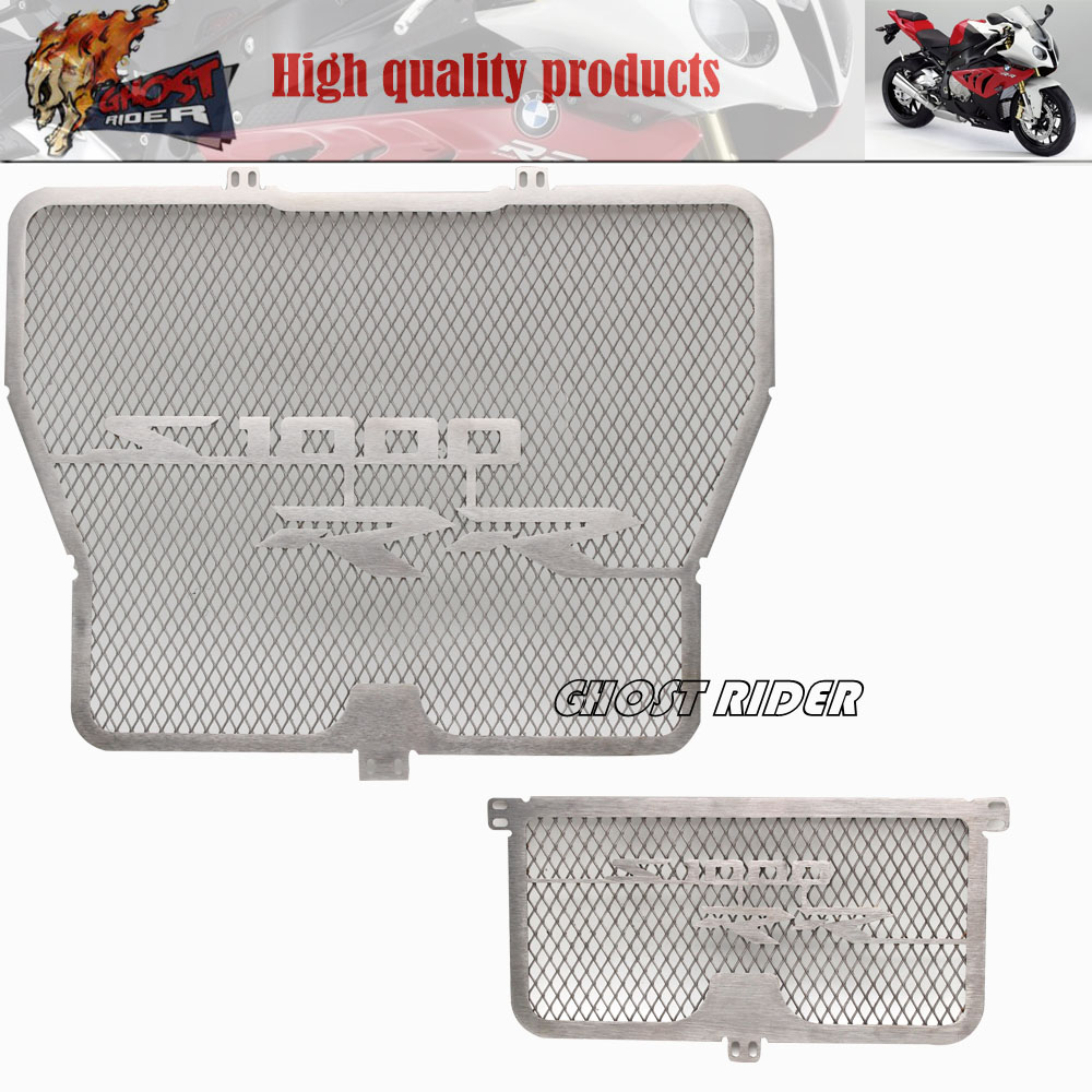 Free Shipping Motorcycle Accessories Radiator Grille Guard Cover & Oil Cooler Guard Cover fits for BMW S1000RR 2009-2014 2015 arashi motorcycle radiator grille protective cover grill guard protector for 2008 2009 2010 2011 honda cbr1000rr cbr 1000 rr